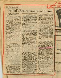 Fellini's Remembrances of Rimini  09 aprile 1975