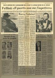 Molte sorprese per l'assegnazione degli Oscar '75 al Music Center di Los Angeles  : Fellini:
