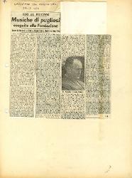 Musiche di pugliesi eseguite alla Fondazione  [27 gennaio 1957]