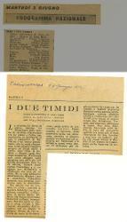 I due timidi  [01-07 giugno 1952]