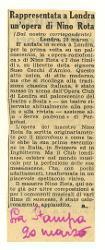 Rappresentata a Londra un'opera di Nino Rota  [20 marzo 1952]