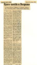 Opere-novità a Bergamo  : Il Capitan Spavento' di Malipiero, 'Le Campane' di Rossellini e 'I due timidi' di Rota. Direttore Bertola, regista Patané 24 ottobre 1972