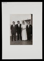 positivo Foto di gruppo: Vitantonio Barbanente, Vitantonio Dellegrazie e la moglie, Nino Rota, 06 settembre 1969