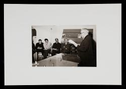 positivo Nino Rota in un aula del Conservatorio Niccolò Piccinni di Bari, [1962 - 1970]