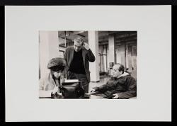 positivo Nino Rota e due persone, [1969?]