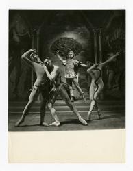 positivo Foto di scena: Giovanni Notari, Carla Fracci, Walter Venditti e Vera Colombo, 02 ottobre 1957