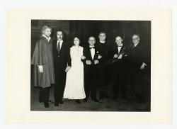 positivo Foto di gruppo: Giorgio Merighi, Alberto Fassini, Edith Martelli, Nino Rota, Nicola Rossi Lemeni e altre due persone, 06 febbraio 1970