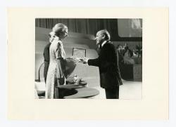 positivo Nino Rota riceve un premio, [anni '60 - '70]