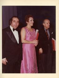positivi Nino Rota, Rolando Nicolosi e un'altra persona, 1979 ca.