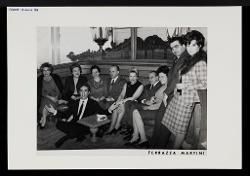 positivo Foto di gruppo: Nino Rota e altre persone, 18 marzo 1966