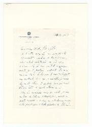 Nino Rota a [Antonio] Ghiringhelli 14 marzo 1967