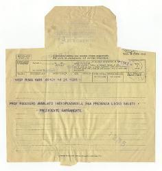 [Vitantonio] Barbanente a [Nino] Rota, Roma - Bari 25 novembre 1955