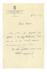 Vitantonio Barbanente a [Nino Rota] 6 marzo 1956