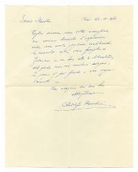 Rodolfo Azzolini a [Nino Rota], Bari 22 ottobre 1961