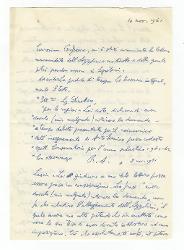 Nino Rota a [Vitantonio Barbanente?] 10 novembre 1961