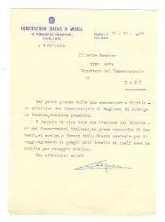 Tito Aprea a Nino Rota, Cagliari 15 ottobre 1966