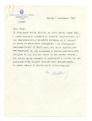 Sandro [Fuga] a Nino [Rota], Torino 7 settembre 1968