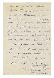 Antonio Caggiula a [Nino] Rota 20 gennaio 1972