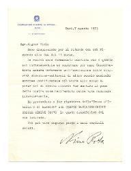 Nino Rota a [Claude] Viala, Bari 7 agosto 1973