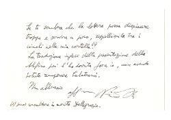 Nino Rota a Franco [Giannelli], Bari 28 gennaio 1974