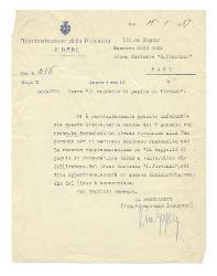 Vitantonio Lozupone a Nino Rota, Bari 15 gennaio 1957