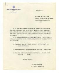 [Nino] Rota a Ronald L. Eisenberg, Bari 4 agosto 1975