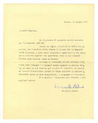 Marcello Abbado a [Nino Rota], Milano 23 giugno 1957