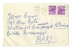 Michele Bellomo a Nino Rota, Milano 12 aprile 1962