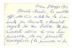 Raffaele Annunziata a [Nino Rota], Torino 7 maggio 1962