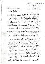 Nino [Rota] a Titina [Rota], Milano 1 settembre 1931