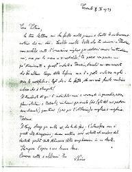 Nino [Rota] a Titina [Rota], Taranto 3 aprile 1939