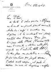 Nino [Rota] a Titina [Rota], Bari 8 giugno 1968
