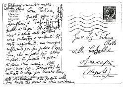 Nino [Rota] a Titina [Rota], Scopello (Trapani) 25 agosto 1974
