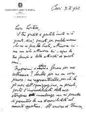 Nino Rota a [Luigi] Cortese, Bari 7 febbraio 1973