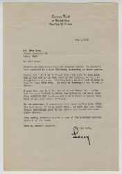 Lawrence Kusik a Nino Rota, New York 4 maggio 1975