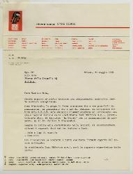 E. Carrera a Nino Rota, Milano 26 maggio 1970