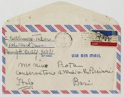 Clara Castelnuovo-Tedesco a Nino Rota, Beverly Hills 14 gennaio 1975