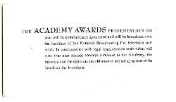 The Board of Governors of the Academy of Motion Picture Arts and Sciences a Nino Rota 8 aprile 1975