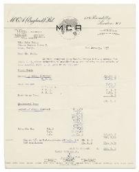 R. W. Fenn a Nino Rota 4 gennaio 1955