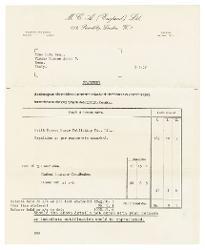 Keith Prowse a Nino Rota 5 gennaio 1959
