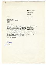 J. Mc Cann e G. Evans a [Nino] Rota 4 maggio 1976