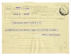 De Melis a [Nino Rota], Roma 2 settembre 1966