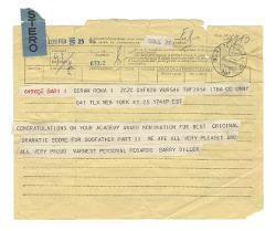 Barry Diller a [Nino Rota], New York 25 febbraio 1975