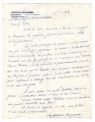 Domenico Ceccarossi a [Nino] Rota 27 gennaio 1976