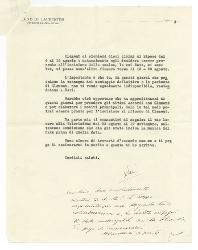 Luigi De Laurentiis e Dino De Laurentiis a Nino Rota, Roma 23 luglio 1957