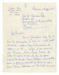 Antonio Carcò a Nino Rota, Catania 4 maggio 1975