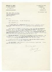 Bernard [M. Berry] a Nino Rota 7 settembre 1973