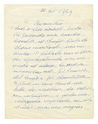 Luisa [Baccara] a Nino Rota 22 febbraio 1969