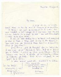 Pietrino [Pietro Acquafredda] a Nino Rota, Trinitapoli 23 giugno 1969