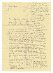 Giancarla [Sandri Fioroni] e Marcello [Fioroni?] a Nino Rota, Milano 27 ottobre 1972